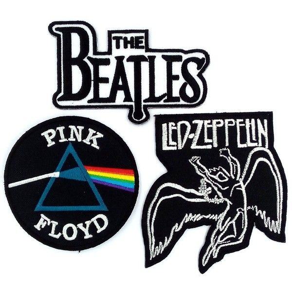 Set_ROCK010 Pink Floyd Patch, The Beatles Band Patches and Led... ($3.75) ❤ liked on Polyvore featuring home, kitchen & dining, kitchen gadgets & tools and floyd