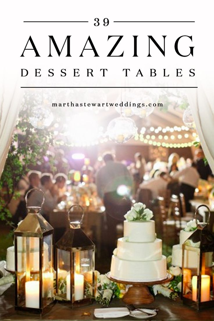 There Are No Rules That Say You Can Only Cut Into One Cake At Your Reception Take A Cue From These S And Deck Out Wedding Dessert Table With