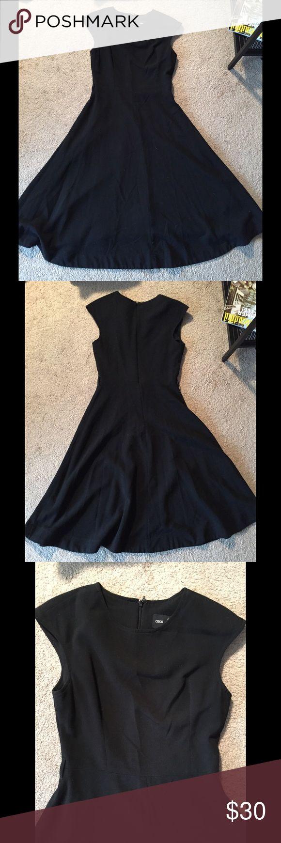 "Asos black dress ASOS black long dress. Size 8, length 45"", armpit to armpit 16"", waist 14.5"". Back zipper closure. Great condition ASOS Dresses Midi"