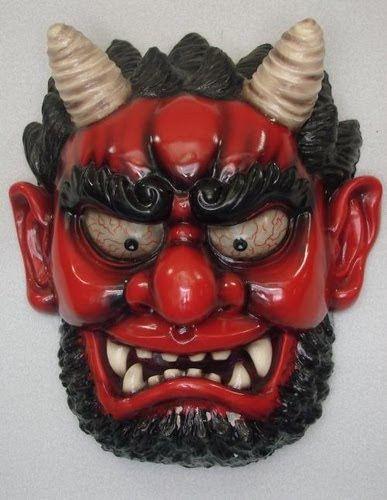 Como estamos no Carnaval, aqui ficam algumas assustadoras máscaras japonesas.
