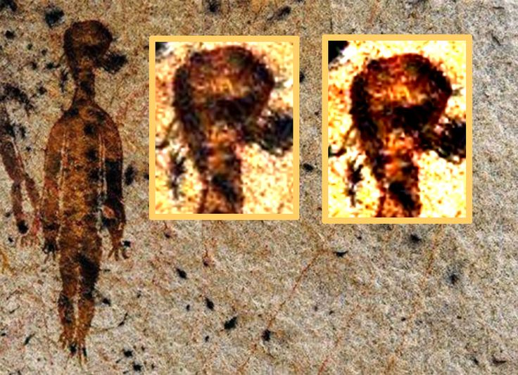 "Image result for Ancient Astronauts: Intriguing 10,000-year-old cave paintings in India show ""Aliens and UFO's"""