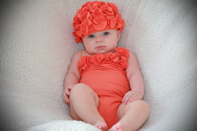 b9a84f2a5e Shade your little one with a baby swim cap that is adorably cheerful and  always UPF