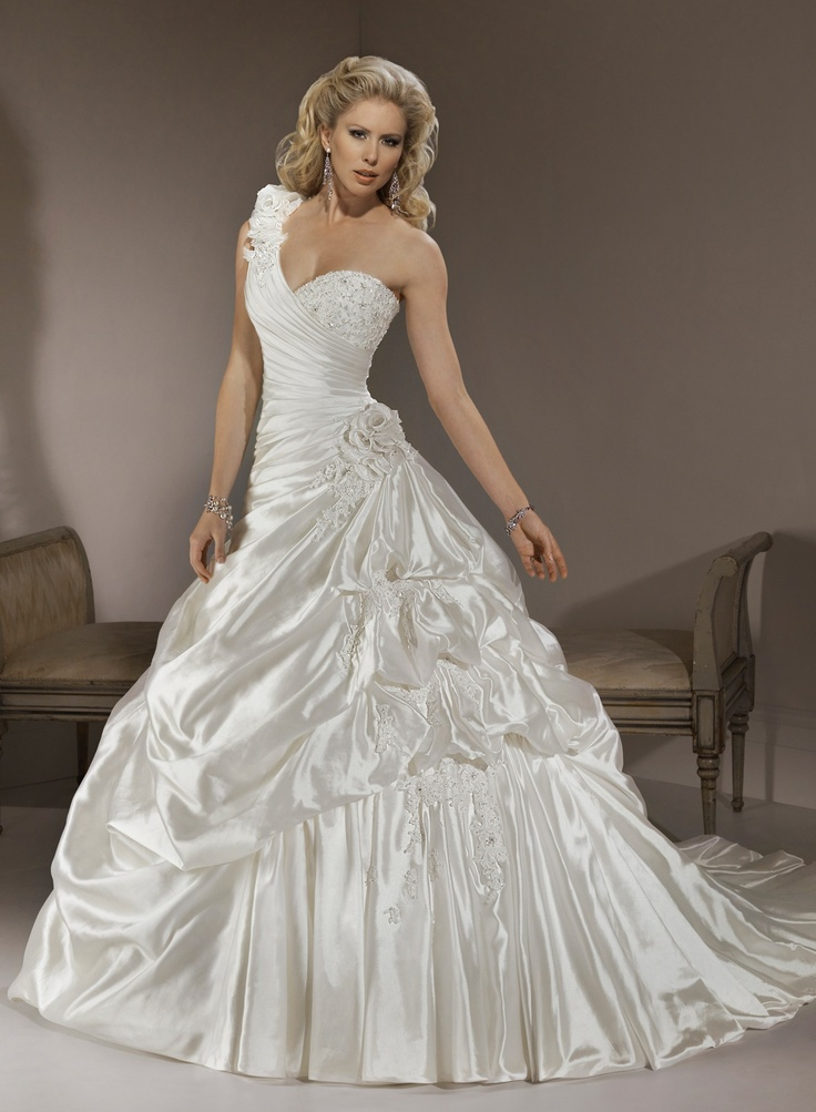 55 best corset wedding dresses images on pinterest for Maggie sottero grace kelly wedding dress