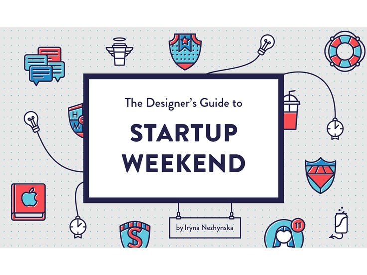 The Designer's Guide to Startup Weekend - cover by Iryna Nezhynska