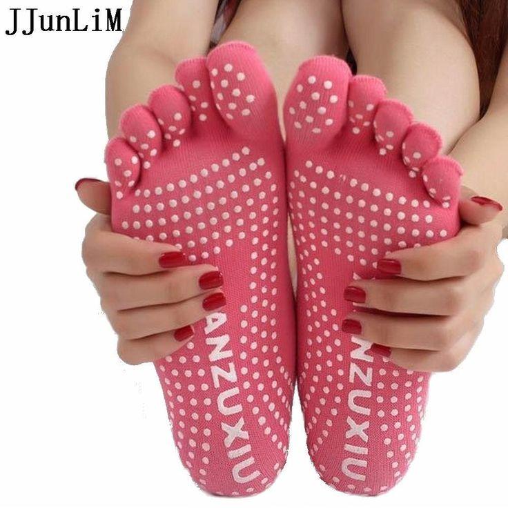 Women's Professional Yoga Socks Non-slip Toe Socks. Athletic Sport Pilates Massage Socks