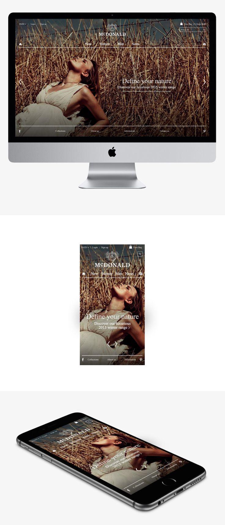 McDonald e-commerce website design and development