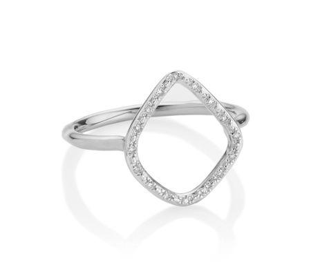 Riva Diamond Hoop Ring | Monica Vinader