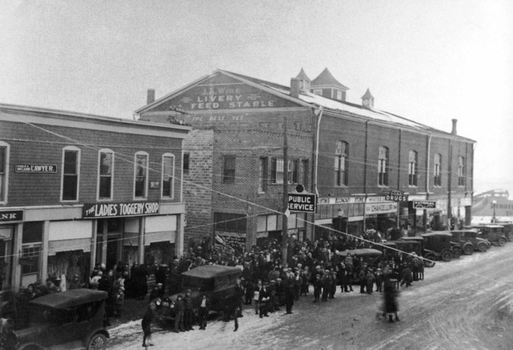 Old photo of Bridge Street in Brighton, Colorado. www.brightonco.gov