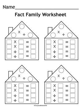 FREE Fact Family Worksheets   Fact family worksheet ...