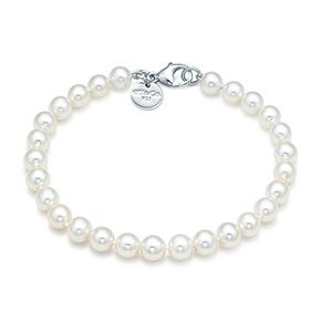 Tiffany & Co. | Item | Ziegfeld Collection bracelet of freshwater cultured pearls with a silver clasp. | United States