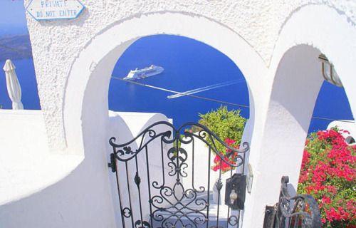 Gate to the Sea, Santorini, Greece