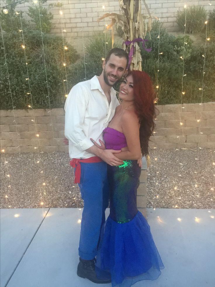 Prince Erik and Ariel #halloweencostume #disney #thelittlemermaid #parentcostumes