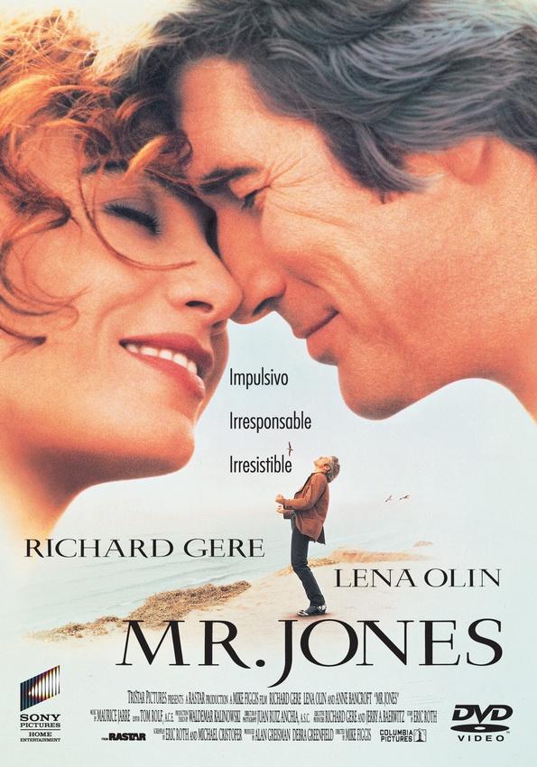 Richard Gere se pone en la piel de Mr.Jones, un hombre impulsivo y fascinante que atrae a la gente con su encanto y su exagerada energía vital. Es un maníaco depresivo que necesita ayuda. Su psiquiatra lo intentará.
