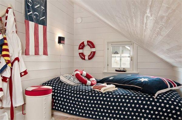Sypialnia zaaranżowana w stylu marynistycznym - Lovingit.pl