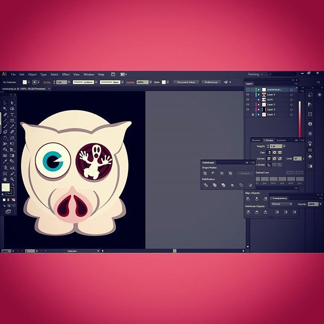 #svisiopig  #character #illustration #draw #cute #love #illustrator #vector #illust #color #animal #art #puppy #lovely #amazing #pig #piggy #oink #pink #pork #pigstagram #fatty #oinkoink #cool #cutie #hot #workinprogress #instaart #progress #project