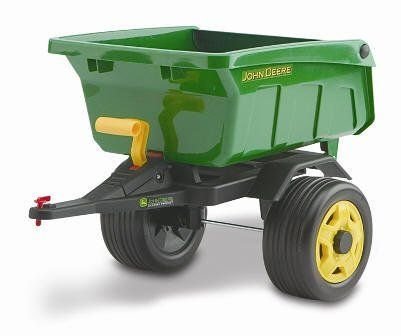 """Trailer for Peg Perego John Deere Tractor by Peg Perego. $99.87. Brand New Green Peg Perego Trailer. Fits: JOHN DEERE TRACTOR (IGCD0517). Dimensions 28.5"""" x 18.5"""" x 18"""". John Deere Trailer (IGTR0923) for John Deere Tractor. Measures: 28.5"""" x 18.5"""" x 18""""  Fits John Deere Tractor model #IGCD0517  The tractor shown in the picture above is the exact same tractor you will receive; however, Peg Perego no longer includes the John Deere decals shown at the top of the trailer. ..."""