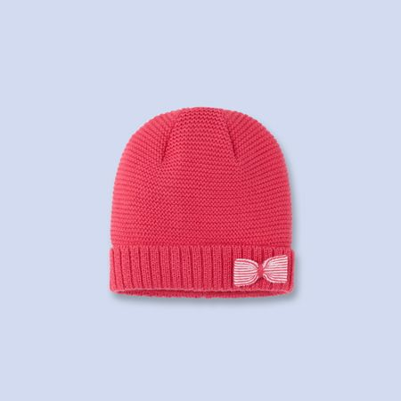 Bow trimmed knit hat at Jacadi on sale $22!