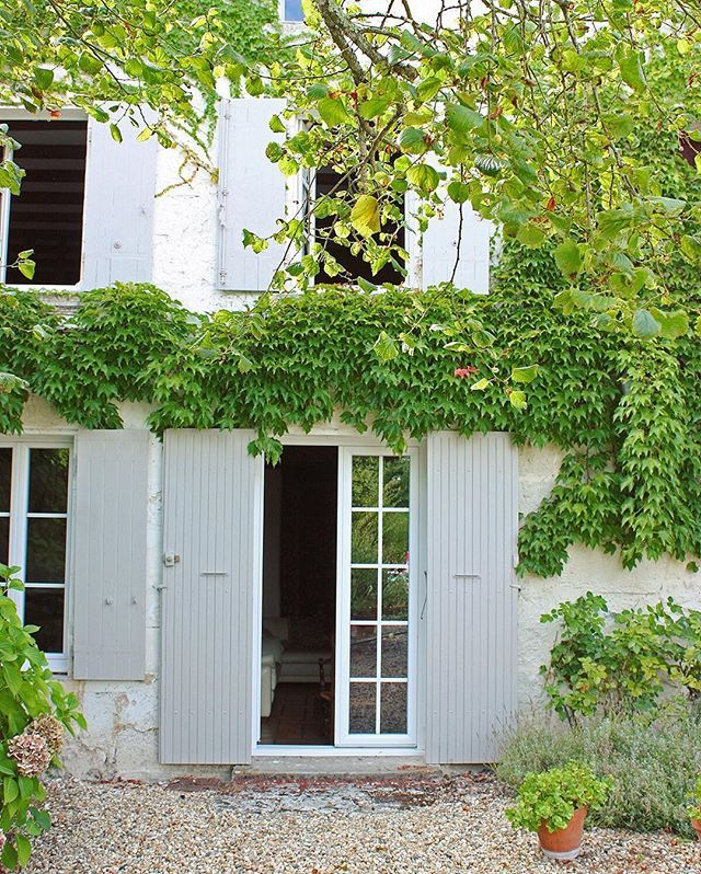 Weekend getaway #2 #maison #plantsofinstagram #garden #yard #windows #pots #greenery #greens #ivy #joiedevivre #romantic #home #house #igersfrance #french #bordeaux #france #beautifuldestinations #worldcaptures #summer #lush #architecture