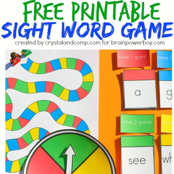 a pin it sight and board word printable game board  Printable party games word sight