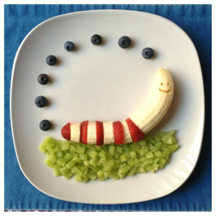 Banana Strawberry Worm Paleo Kids Creative Meal Art Ideas | Thanks to Gabriela Fischer of Fun Meals 4 Kids for these terrific food sculptures featuring bananas and other nuritious and delicious foods! Gabriela is devoted to promoting nutrition education and healthy lifestyles, including coming up with amazingly fun ways to get kids to eat more fruits and vegetables. For still more great photos displaying Gabriela's creative culinary genius, visit the Fun Meals 4 Kids page on Facebook.