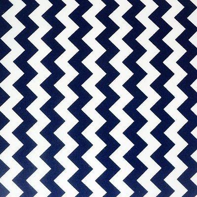 Classic Chevron Stripe - Navy/ White - 100% Cotton Zig Zag Fabric  Patchwork Sew