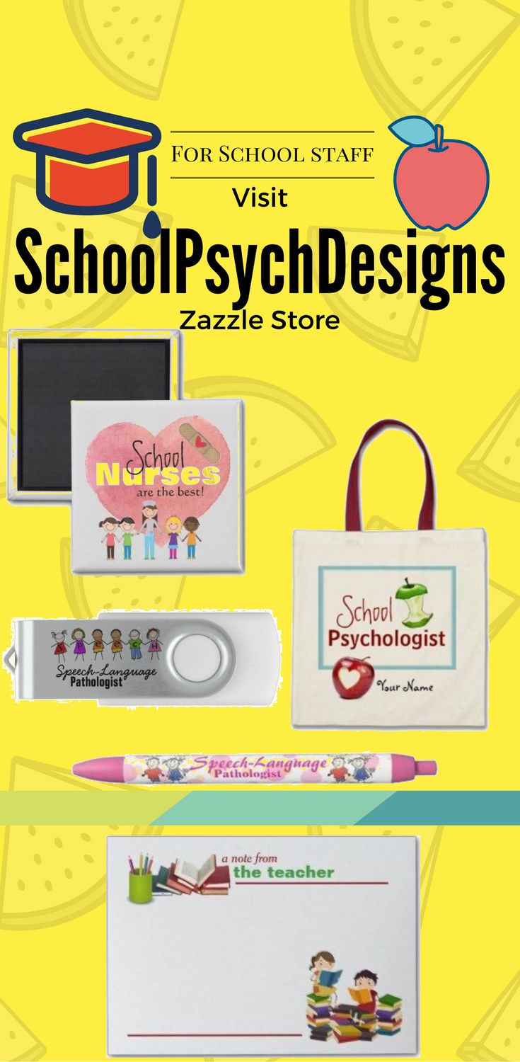 Visit SchoolPsychDesigns Zazzle store for different Product With design for School staff.