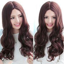 Экспресс-доставка леди девушка шарм волнистые полные длинные волосы парики косплей s1574 теплоизоляционный слой cospay парики