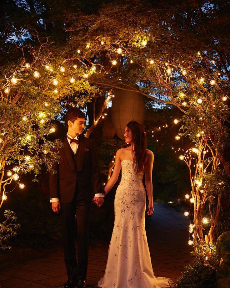 いいね!60件、コメント1件 ― THE SODOH WEDDING OFFICIALさん(@thesodoh_wedding)のInstagramアカウント: 「* 夕方からのお時間はお庭に電飾をつけるだけで、ガラッと雰囲気が変わり、フォトジェニックな撮影ができる人気のお時間帯です。 #sodoh#wedding#bridal…」