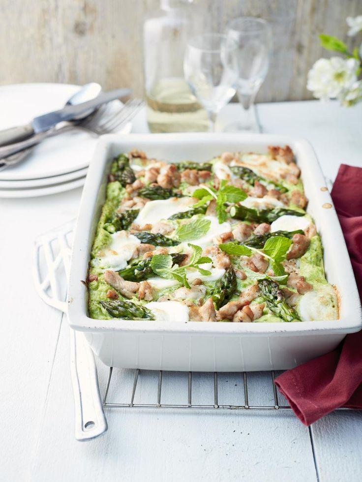 Zomerlasagne met groene asperges, tuinbonen en kalkoen - Libelle Lekker
