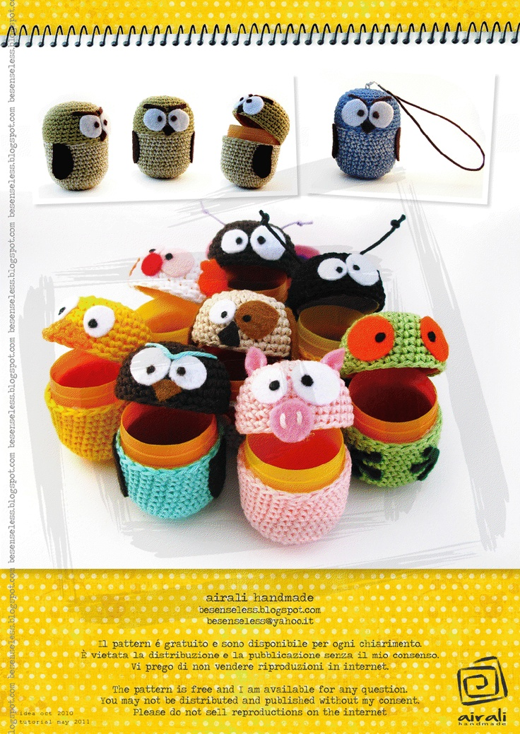 1000+ images about Crochet Kinder Containers. on Pinterest ...