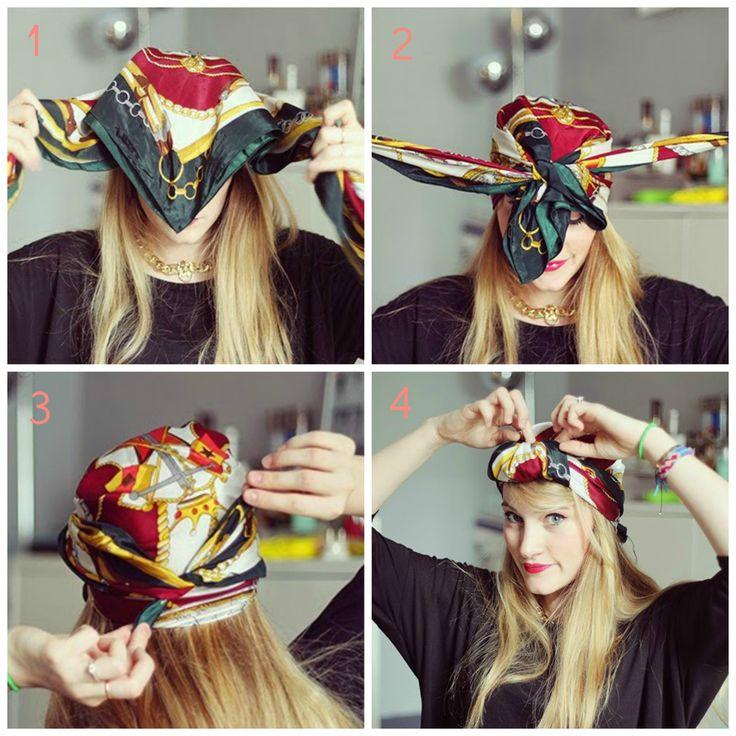 Les 25 meilleures id es de la cat gorie turbans africains sur pinterest turbans turban de - Foulard pour cheveux tendance ...