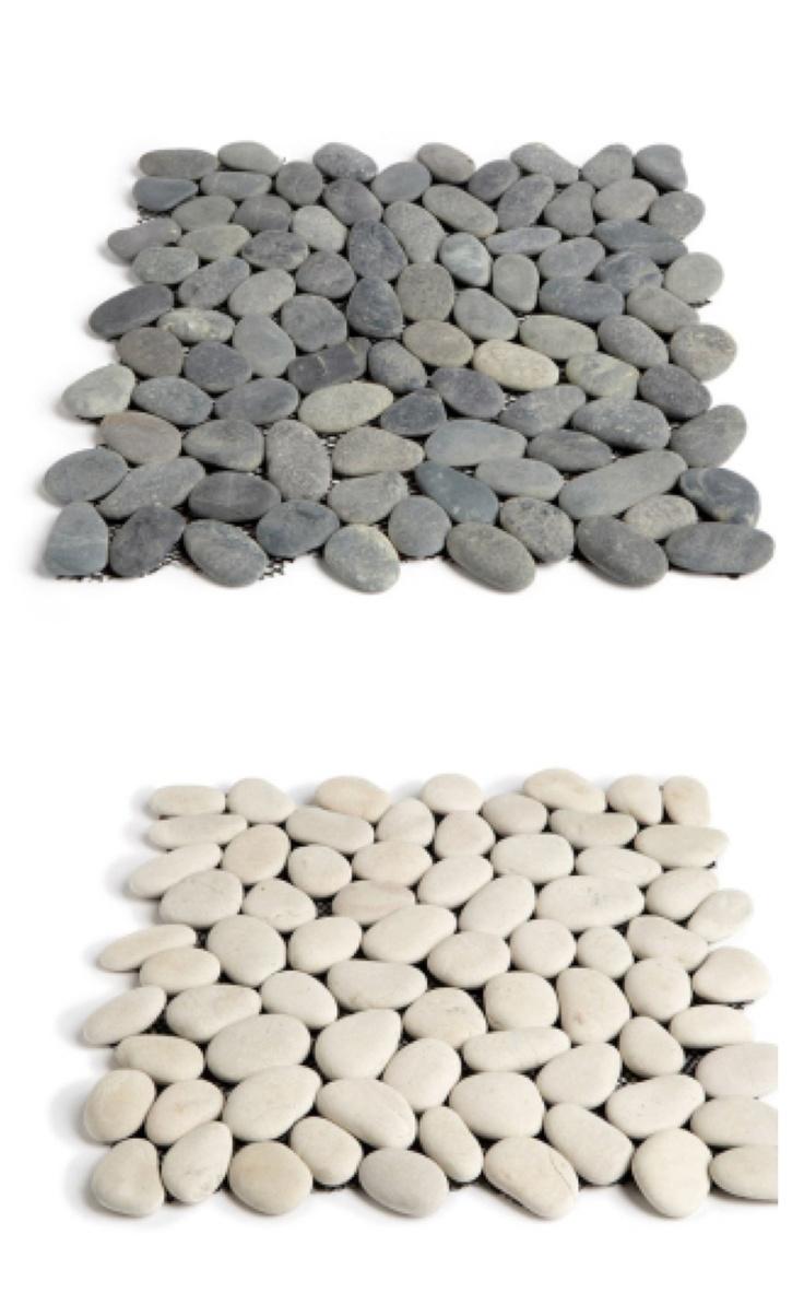 Stenfliser til dusjgulv Self Sasso Stone, 250kr per ark Flisekompaniet