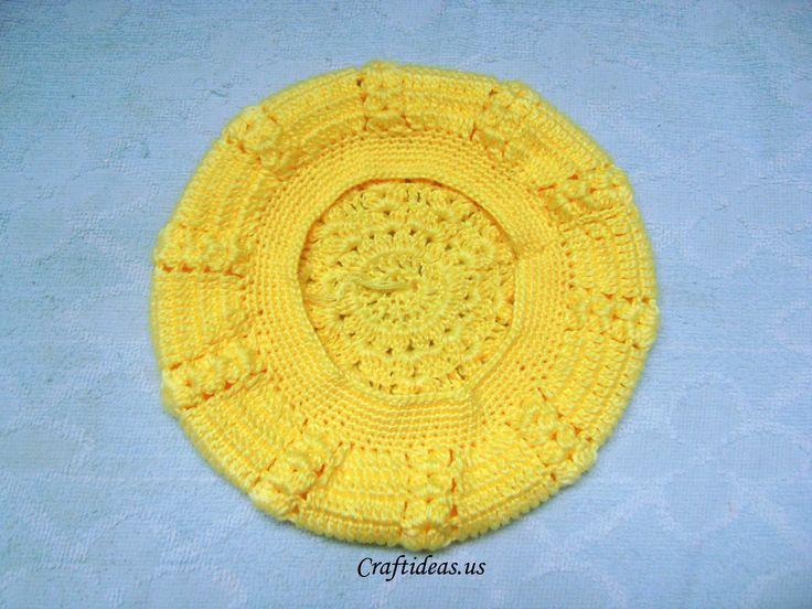 Teaching Knitting Rhyme : Crochet beret tutorial craft ideas crafts for kids
