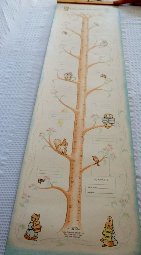 Beatrix Potter growth chart: Nursery