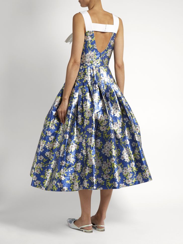 Click here to buy Delpozo Floral-print pleated midi dress at MATCHESFASHION.COM