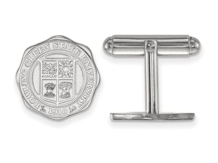 LogoArt Sterling Silver Bowling Green State University Crest Cuff Link