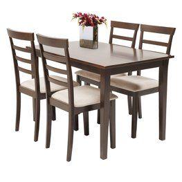 Stôl + 4 stoličky BJERT farba kávy