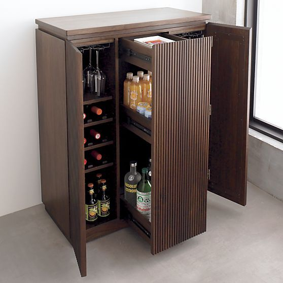 Monaco Bar Cabinet in Dining & Kitchen Storage | Crate and Barrel