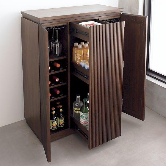 Monaco Bar Cabinet in Bar Cabinets Bar Carts | Crate and Barrel