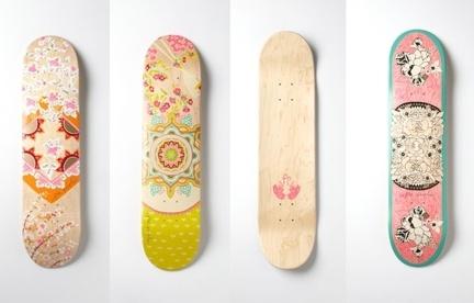 Free People limited-edition printed skateboard decks