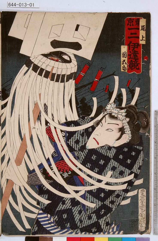 Toyohara Kunichika: 「東京一二伊達競」「尾上菊五郎」 - Tokyo Metro Library