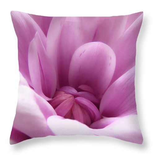 Wonderful and gorgeous pink pillow with the image of a pink flower, macro photo!