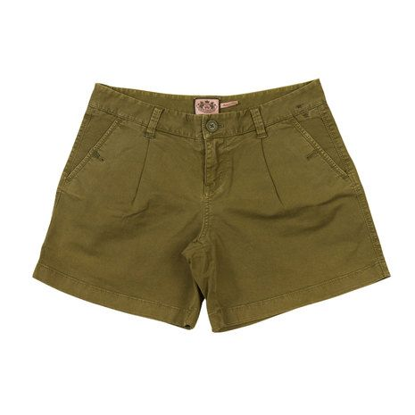 Juicy Couture Khaki Army Green Bermuda Shorts Summer Holiday - Size 6