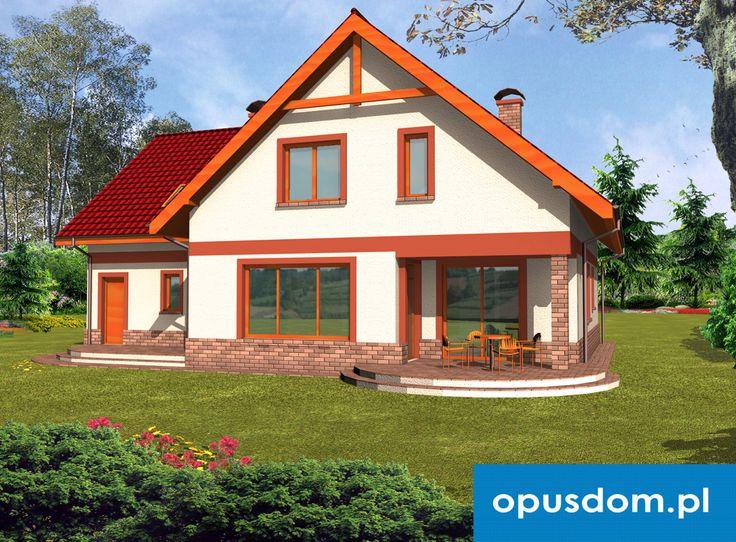 Anita II - projekt dużego domu 217,3m2 + garaż  Autor: Marek Oczkowski OPUSDOM  http://opusdom.pl/produkt/anita-ii/
