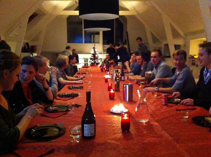 Christmas dinner at our former office