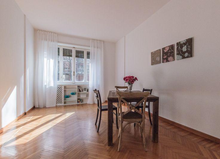Home staging in collaborazione con  Marrese arredamenti - Appartamento vuoto a Torino - Zona Crocetta - 110mq - Sala - (03/2016)