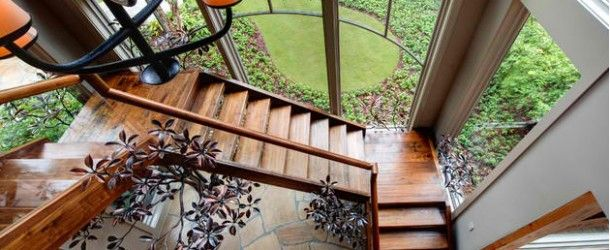 20 Attractive Wooden Staircase Design via @homedesignlover