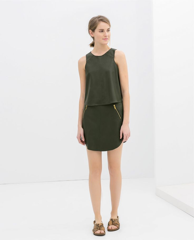 Image 1 of FAUX LEATHER SLEEVELESS TOP from Zara