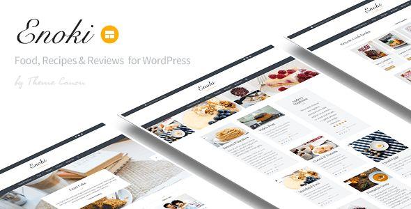 Enoki - Personal Blog For Foodies