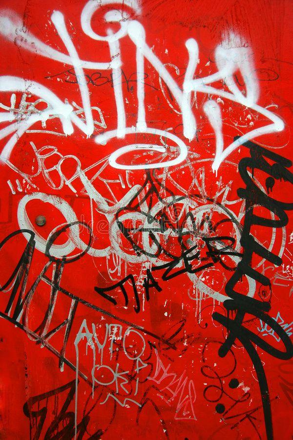 Download Graffiti On Red Vertical Stock Photo Image Of Suburban 2716242 Black And White Graffiti Graffiti Graffiti Wallpaper